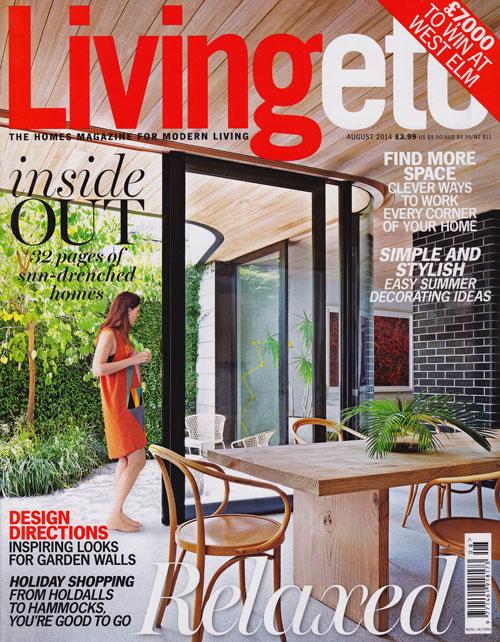 Antonia Schofield Garden Design, featured in Living etc - August 2014