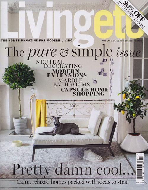 Antonia Schofield Garden Design, featured in Living etc - May 2015