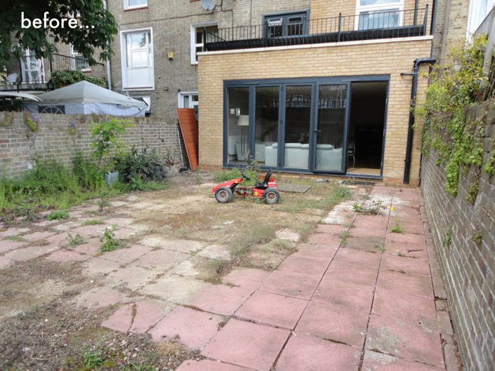Garden extension before