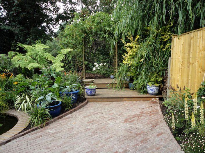 Brick path & pergola
