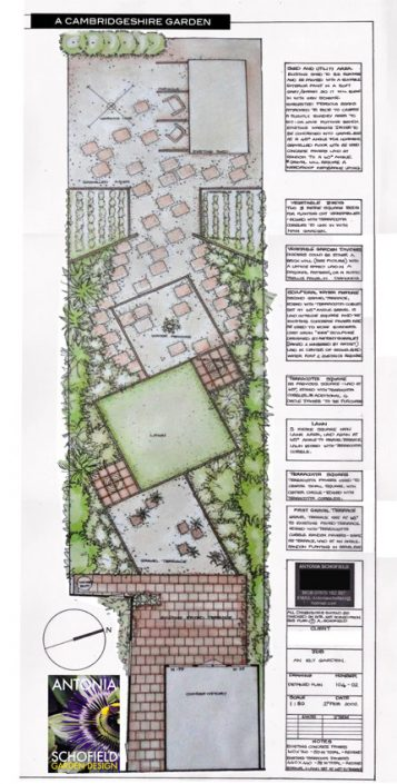 Illustrated garden plan