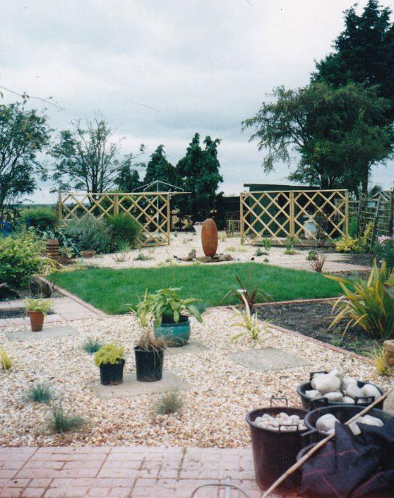 Garden in construction