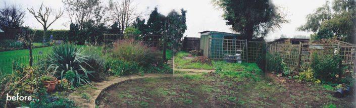 Worn out garden