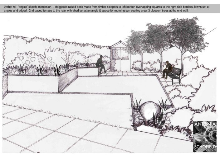 Dynamic 'angles' garden