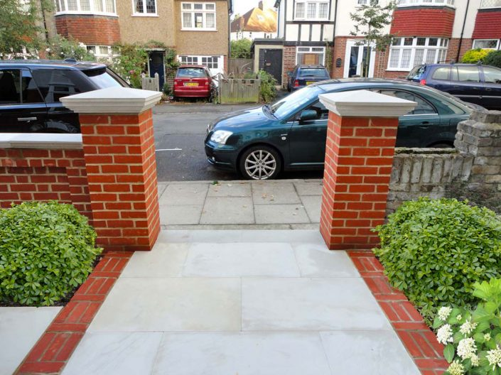 Classic brick pillars