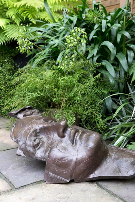 Sculpture amongst the foliage