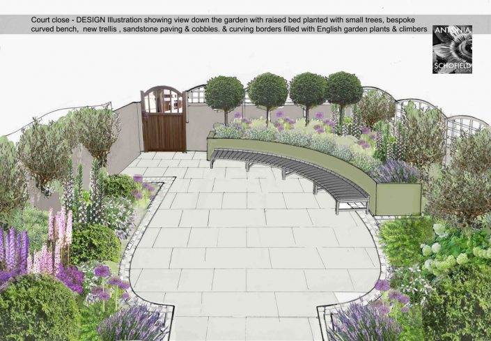 Illustrated planting scheme