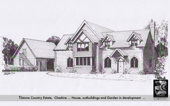 Proposed new oak timbered lodge house