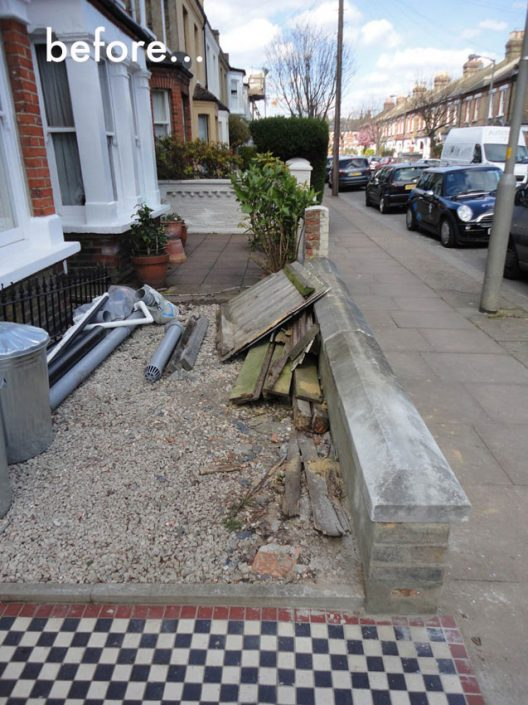 Broken down front garden