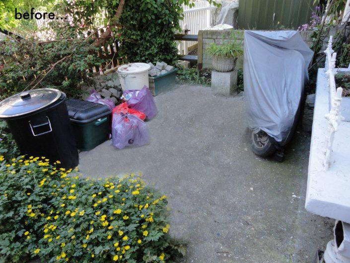 Untidy front garden