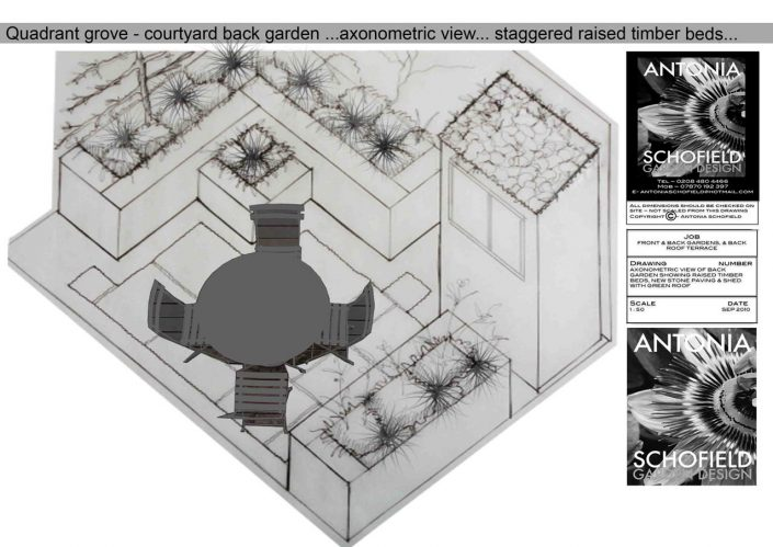 Axonometric drawing to show heights