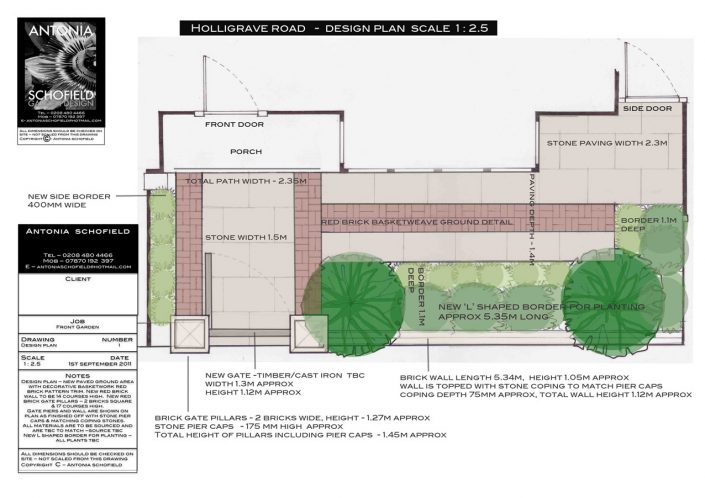 Illustrated design plan